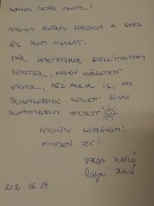 ingyen bútorszállítás levél Deák Antal részére.